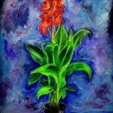 Uzemění - Iris - olej na plátně - 100 x 80 cm - r. 2013