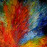 Hořící láska - olej na sololitu - 138 x 103cm - r. 2008
