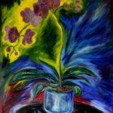 Orchidej - olej na sololitu - 135 x 110 cm - r. 2013