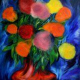 Růže - olej na sololitu - 138 x 123 cm - r. 2013