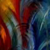 Zrození - olej na sololitu - 110 x 70 cm - r. 2007