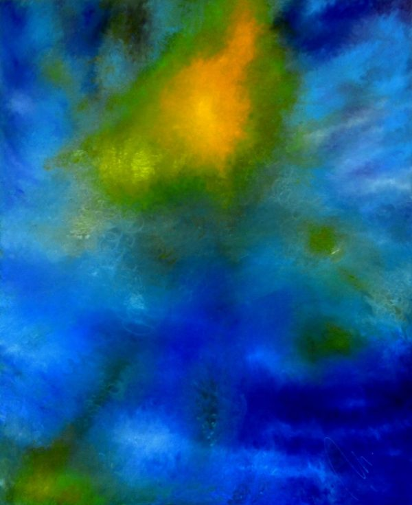 18 - Probuzené ticho - olej na solollitu - 135 x 110 cm- r. 2008