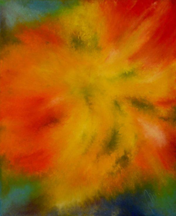 24 - Motlitba - olej na sololitu - 135 x 110 cm- r. 2007