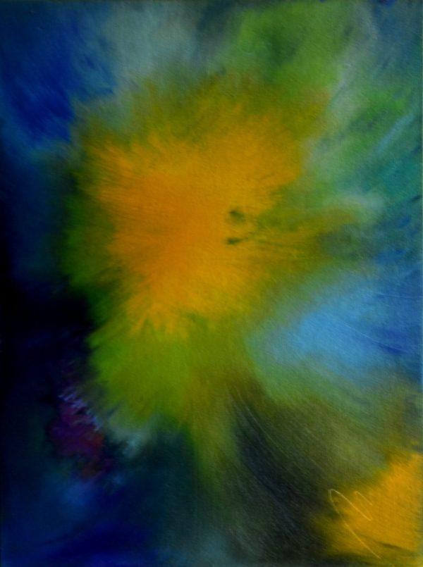 27 - duše slunce - olej na sololitu - 60 x 45 cm - r. 2008