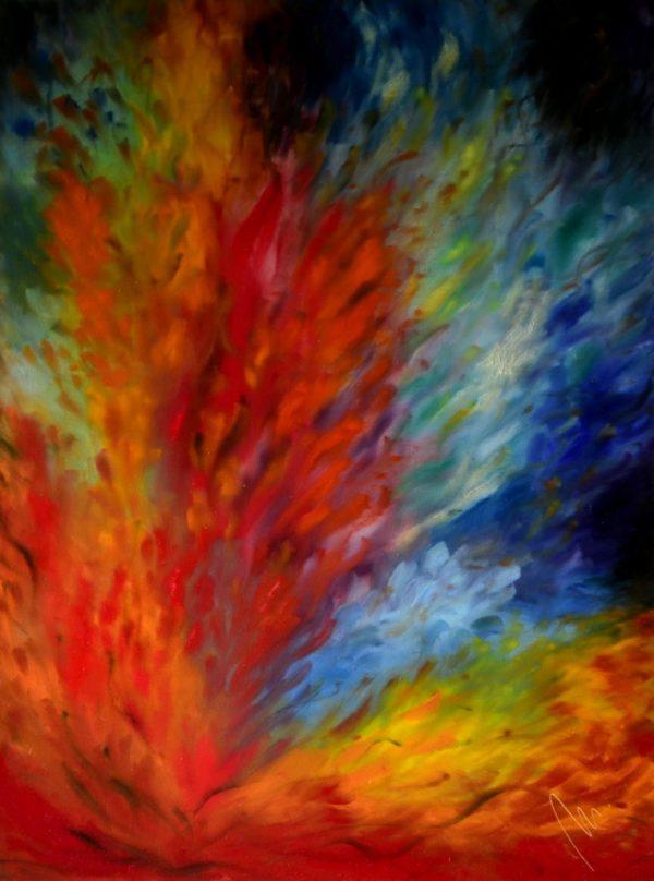 29- Hořící láska - olej na sololitu - 138 x 103cm - r. 2008