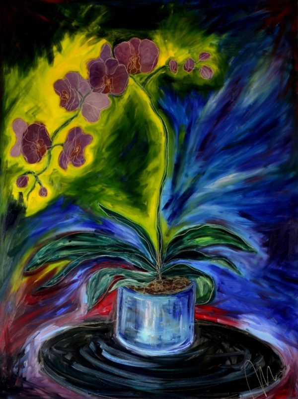 3 - Orchidej - olej na sololitu - 135 x 110 cm - r. 2013