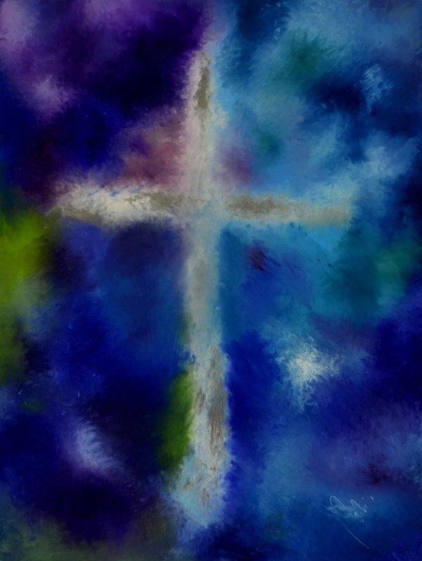 6 - Požehnání - olej na sololitu - 137 x 103 cm - r. 2008