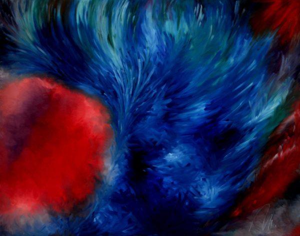 9 - Touha - olej na sololitu - 140 x 110 cm - r. 2007