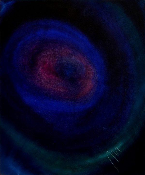 37 - Vesmírný tanec - olej na sololitu - 60 x 50 cm - r. 2007