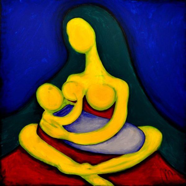 39 - Bohyně plodnosti - akryl na plátně - 100 x 100 cm- r. 2013