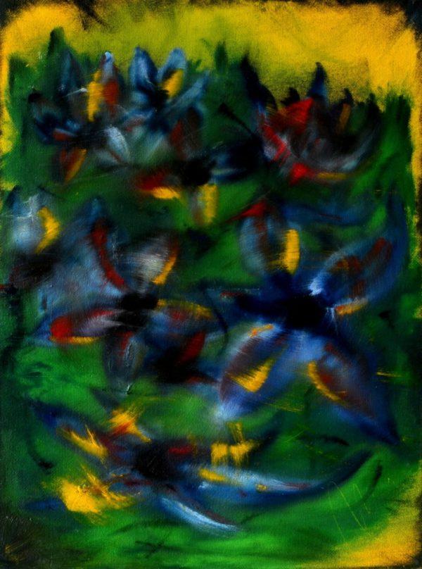 52 - Květiny - olej na sololitu - 60 x 45 cm - r. 2007