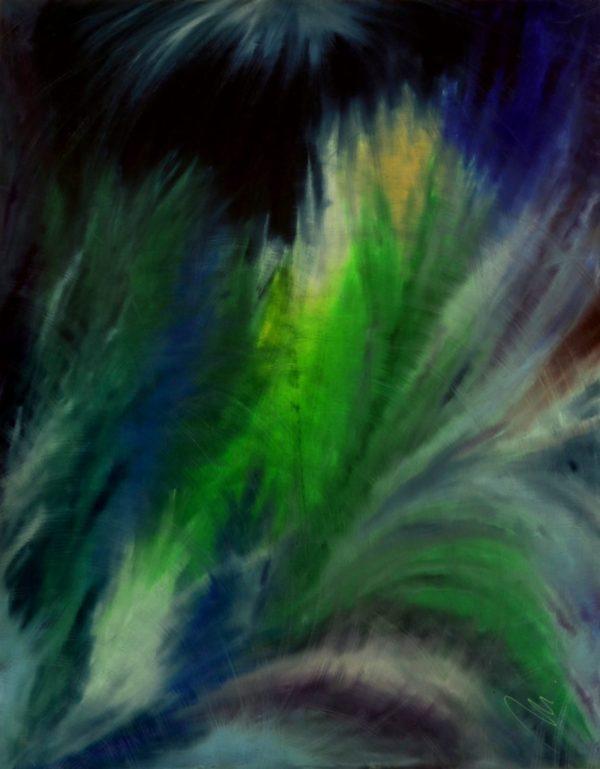 64 - Usmíření - olej na sololitu - 140 x 110 cm- r. 2007