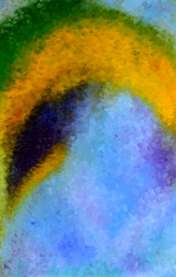 67 - Andělé - olej na sololitu - 110 x 70 cm - r. 2007