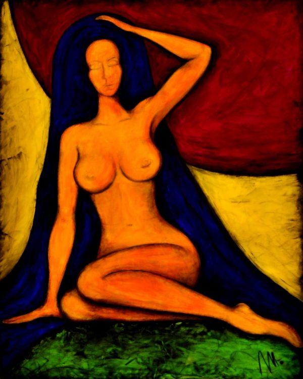 36 - Bohyně klidu - akryl na plátně - 100 x 80 cm - r. 2014