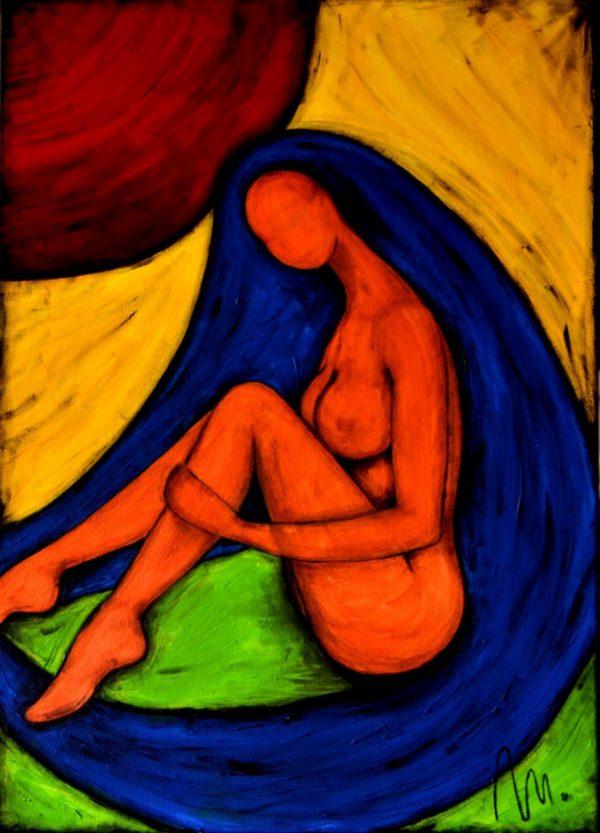 57 - Bohyně hravosti - akryl na plátně - 70 x 50 cm - r. 2013