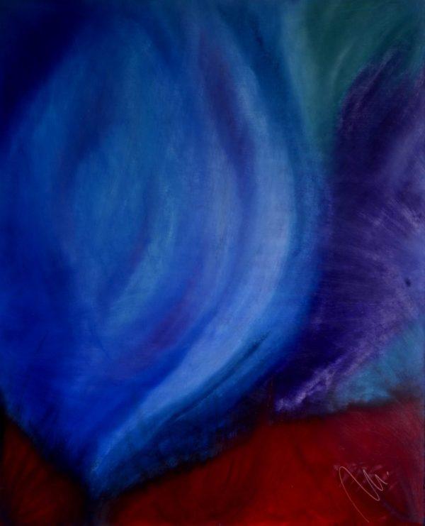 66 - Ženství - olej na sololitu -135 x 110 cm - r.2008