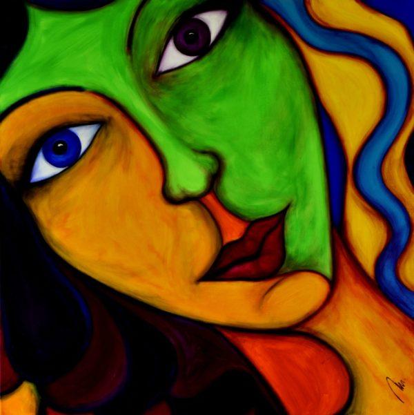 20 -Bohyně Isis - akryl na plátně - 100 x 100 cm - r. 2014