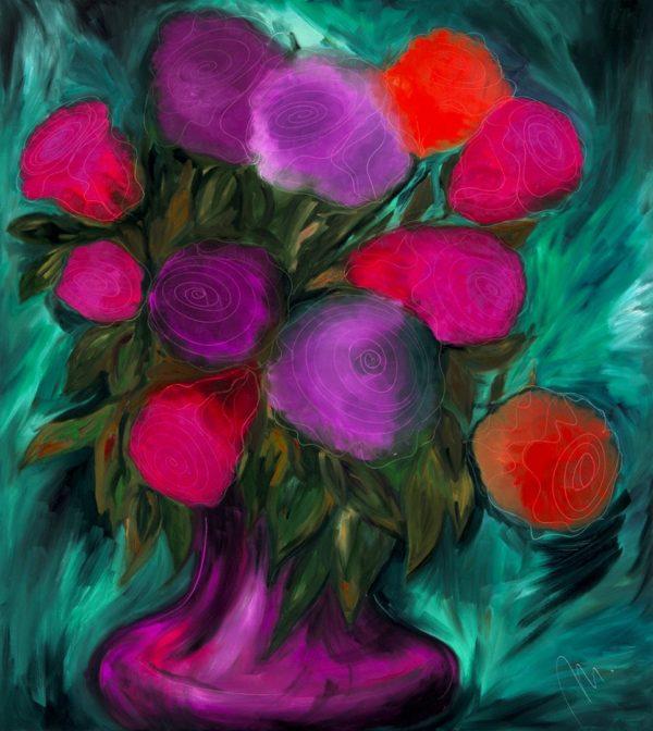 Růže - barevná varianta 2