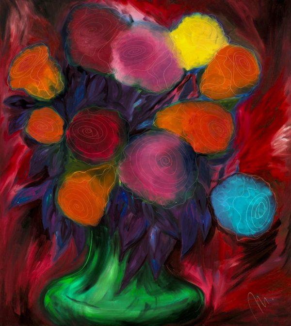 Růže - barevná varianta 3