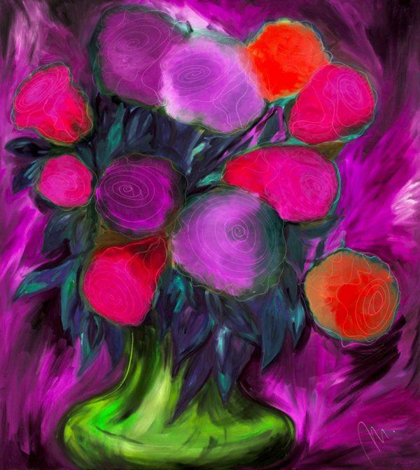 Růže -barevná varianta 4