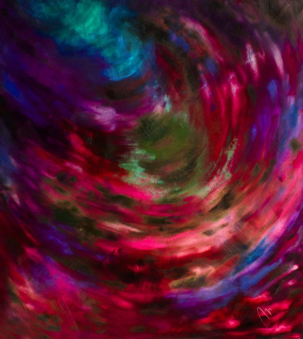 Tajemství - olej na sololitu - 138 x 123 cm - r. 2008, barva 3