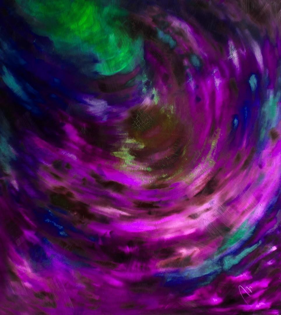Tajemství - olej na sololitu - 138 x 123 cm - r. 2008, barva 2