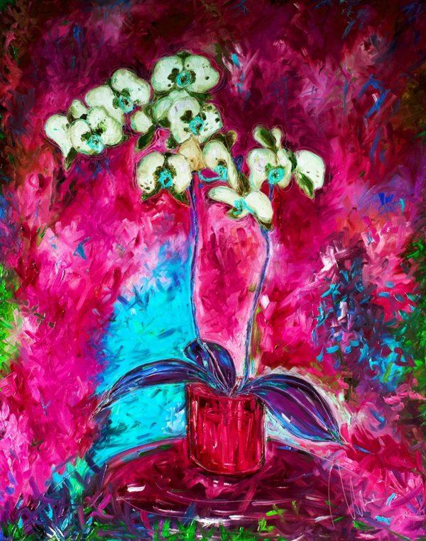 Bílá orchidej - barevná varianta 2 web