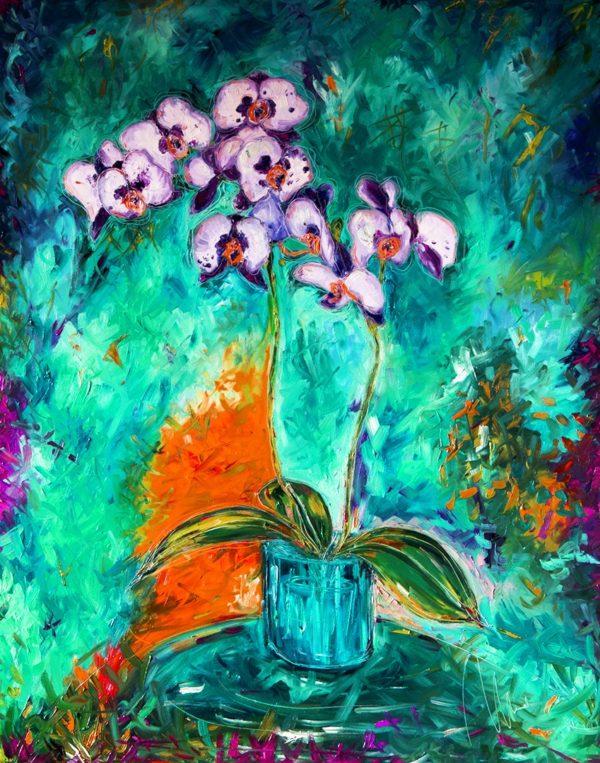 Bílá orchidej - barevná varianta 4 web