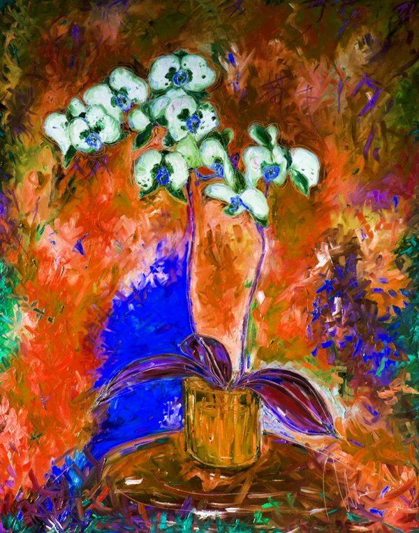 Bílá orchidej - barevná varianta 6 web